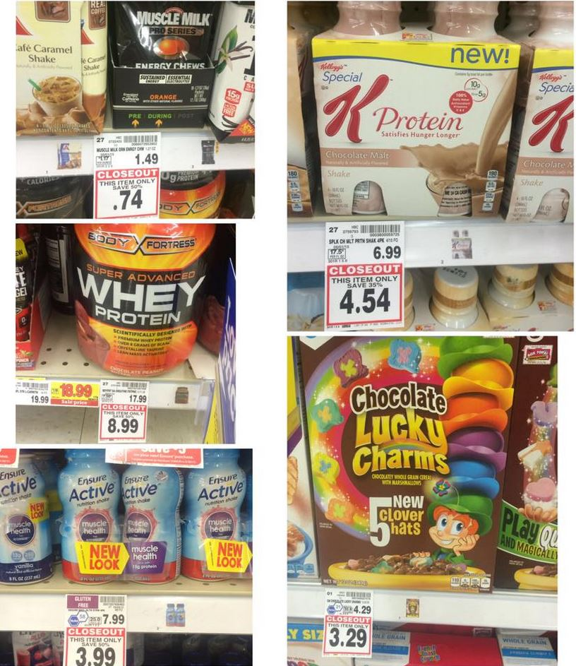 Kroger Closeouts In Protein Powders, Cereals, Pet Treats