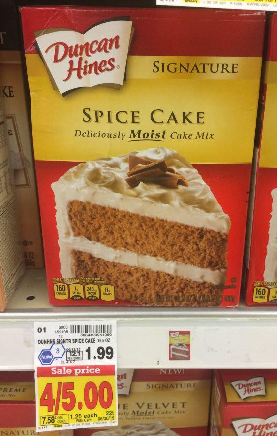 Kroger Duncan Hines Cake Mix