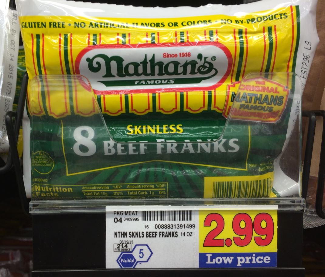 photograph about Nathans Printable Coupons referred to as Nathans Beef Franks Basically $2.44 at Kroger!! Kroger Krazy