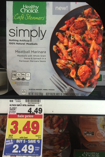 healthy choice simply frozen meals only  1 99 at kroger