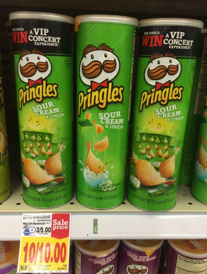 Pringles ONLY $0 75 at Kroger (Reg $1 67)!   Kroger Krazy