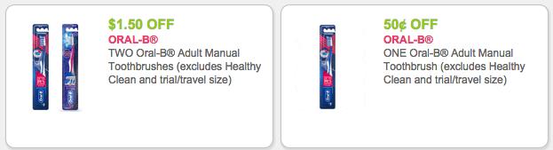 Oral-B Toothbrush Coupons