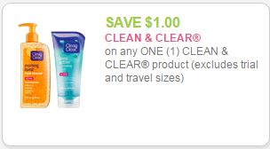 clean and clear coupon