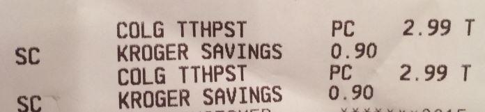 colgate receipt