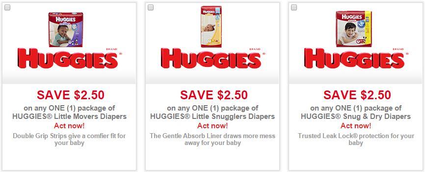 Huggies digital coupons