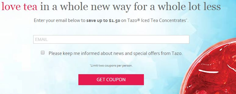 tazo coupon