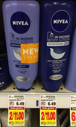Nivea In-Shower Body Lotion Only $4.00 at Kroger (Reg Price $6.49)!!! - Kroger Krazy