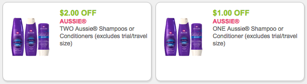 Aussie shampoo coupons