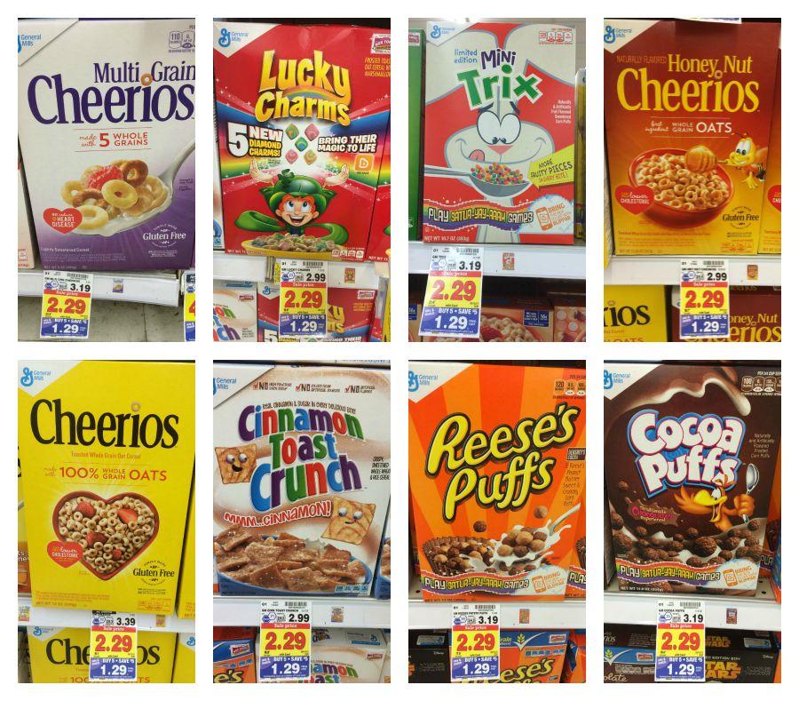 General Mills Cereals Lowered For Kroger Mega Sale (as Low