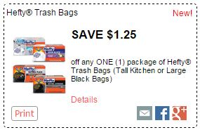 New Hefty Coupons Trash Bags As Low As 5 99 At Kroger