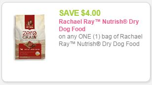 image about Printable Rachael Ray Dog Food Coupons identified as Significant Price $4 Rachael Ray Nutrish Coupon + Kroger Specials