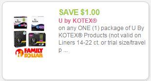 u by kotex coupon