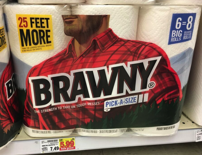 picture about Brawny Printable Coupons titled Brawny Paper Towels Simply just $4.99 at Kroger!! Kroger Krazy
