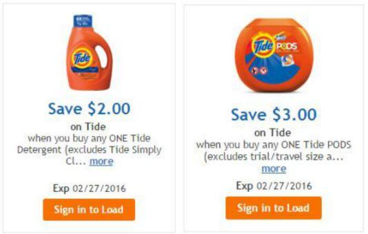 digital coupons for tide detergent