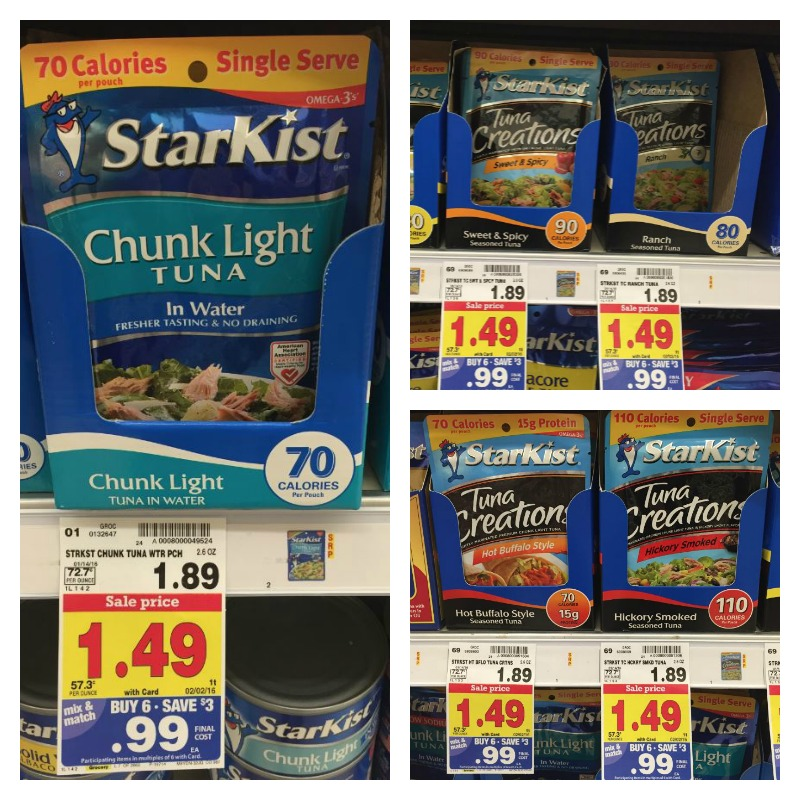 Starkist Tuna Pouches Are Part Of The Kroger Mega Sale For 099 When You Buy 6 Participating Items Mix And Match We Have A Couple Coupons Along With