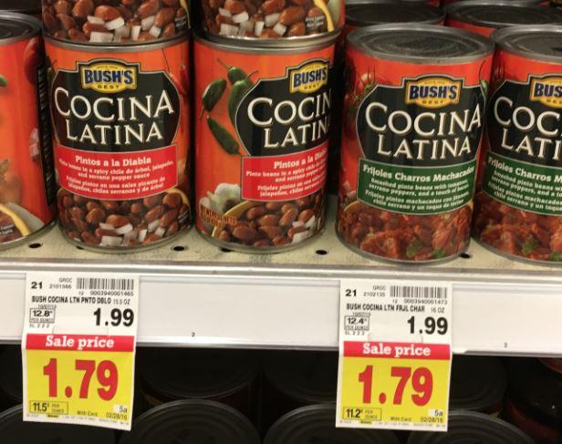 Bush S Cocina Latina Beans As Low As 0 79 At Kroger