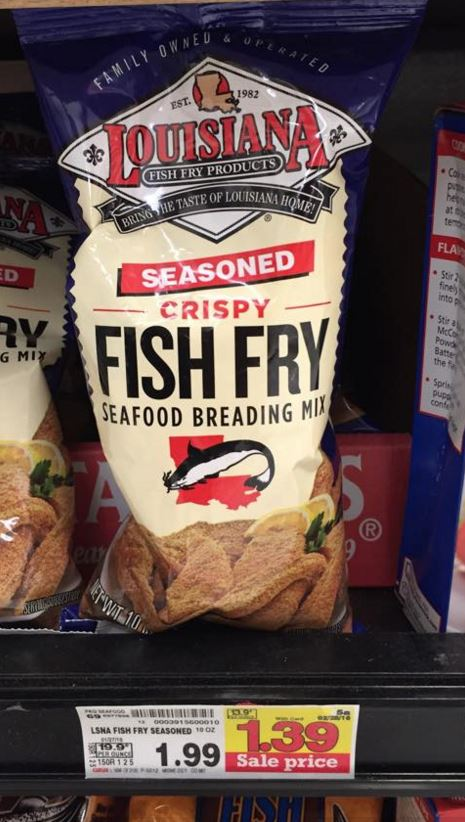 Louisiana fish fry seafood breading mix only at for Fish fry breading