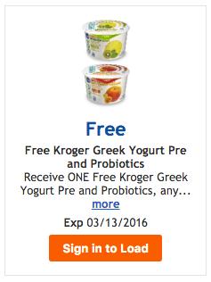 Free Kroger Greek Yogurt Pre and Probiotics - Kroger Krazy