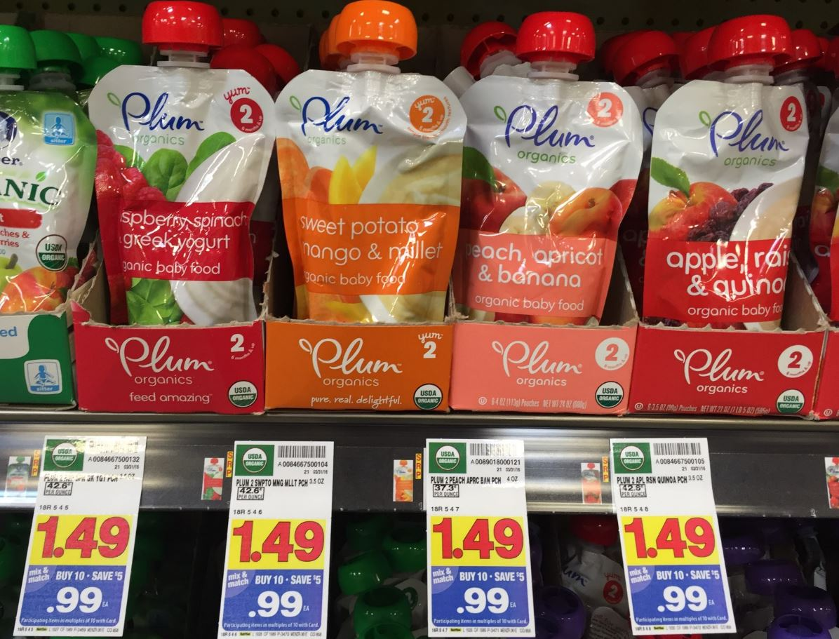 photograph regarding Plum Organics Printable Coupon known as Plum Organics Boy or girl Food items Pouches Just $0.49 at Kroger