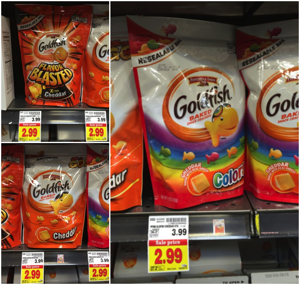graphic regarding Goldfish Printable Coupons known as Pepperidge Farm Goldfish Crackers inside of Resealable Luggage Just
