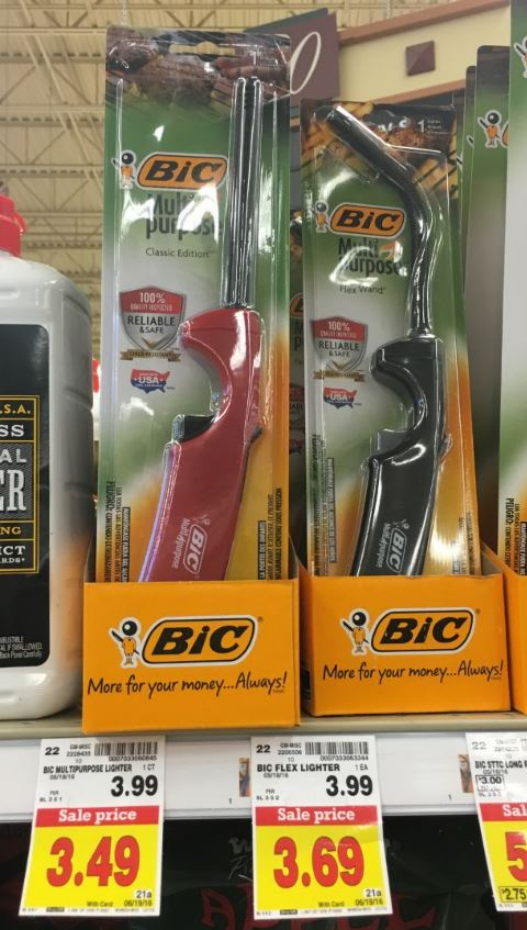 Bic lighter coupons
