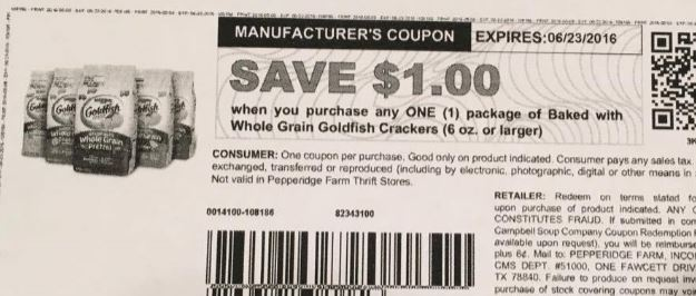 photograph about Goldfish Printable Coupons named Goldfish Coupon \u003d Absolutely free at Kroger!! Kroger Krazy