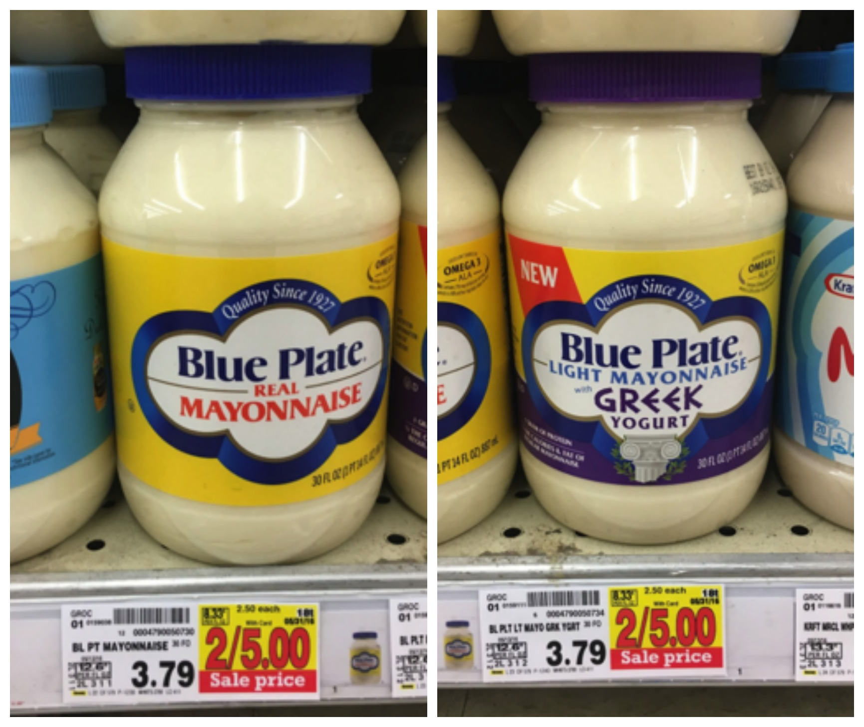 blue plate mayo collage