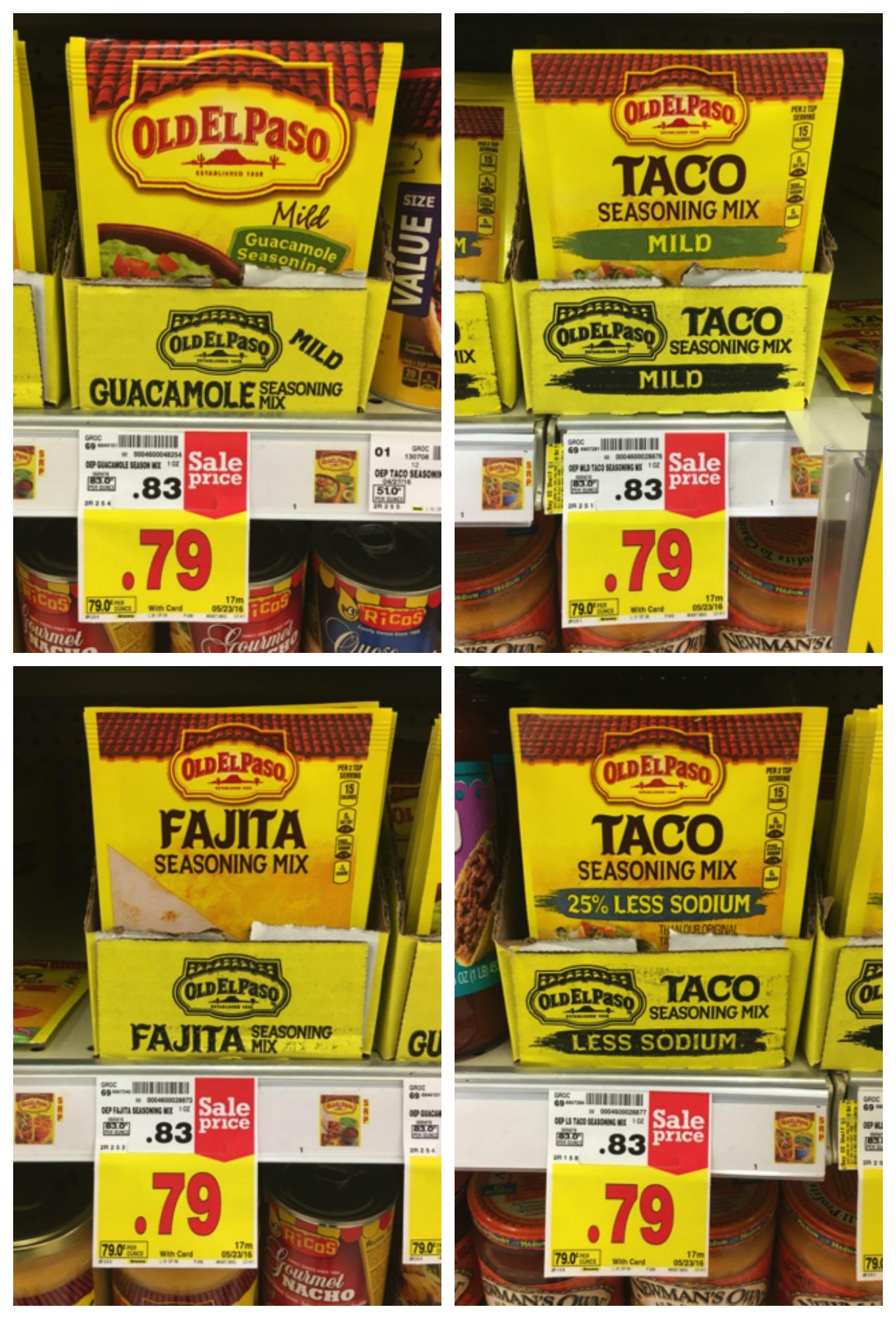 old el paso taco seasoning collage