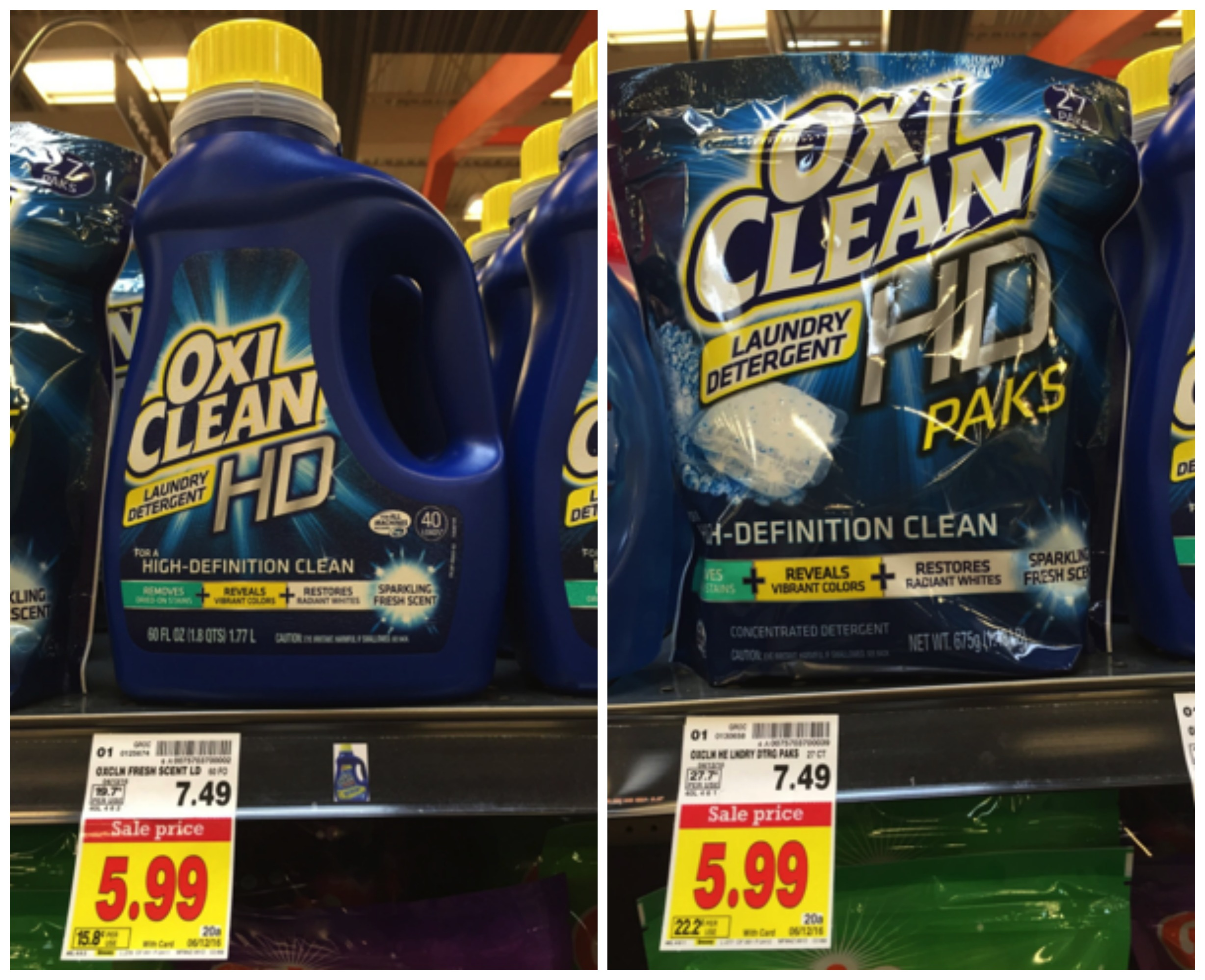 oxiclean HD collage