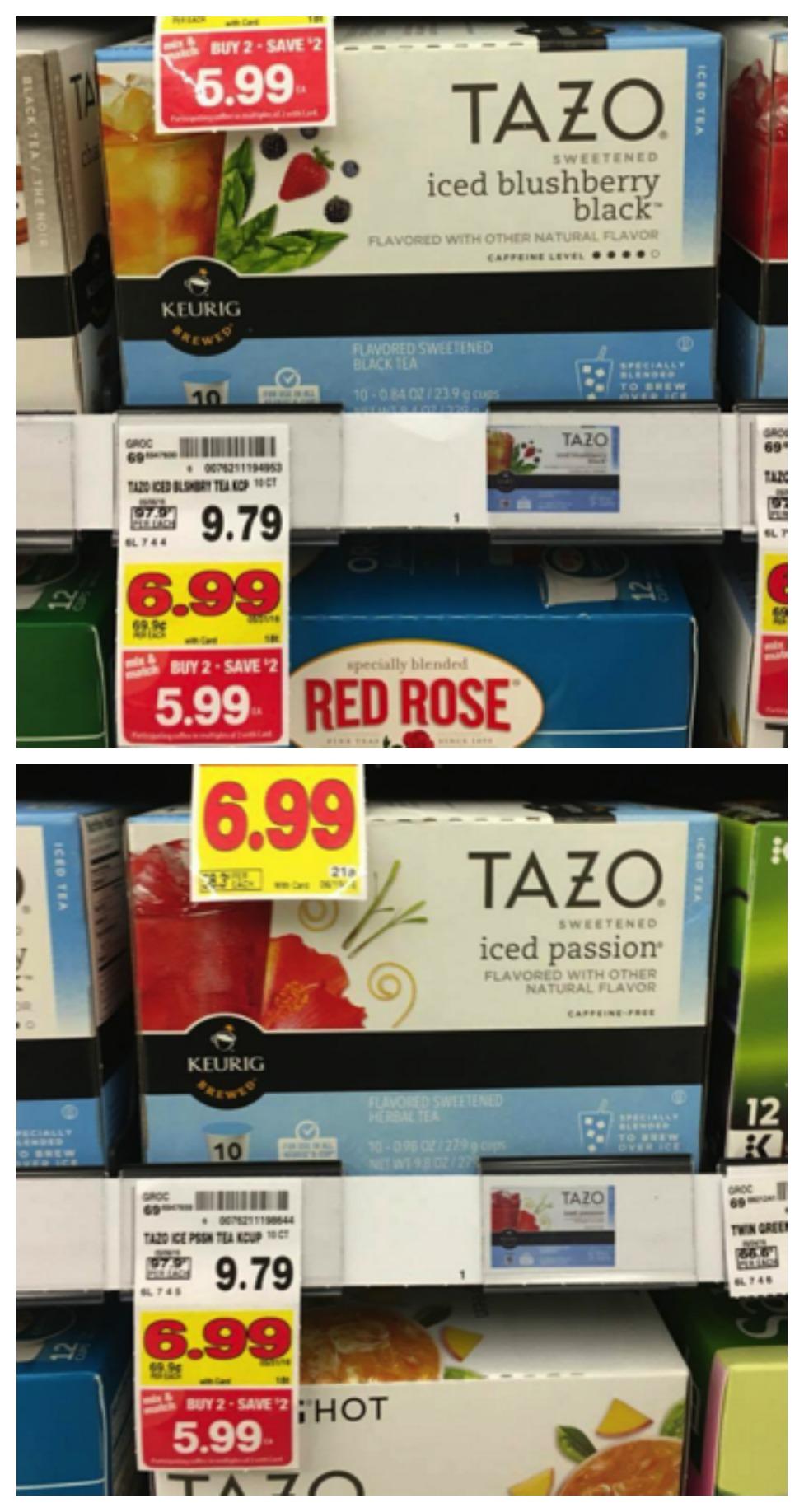 tazo tea collage