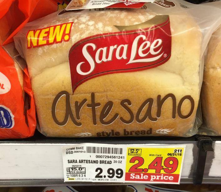 Sara Lee Artesano Style Bread Only $1.94 at Kroger ...