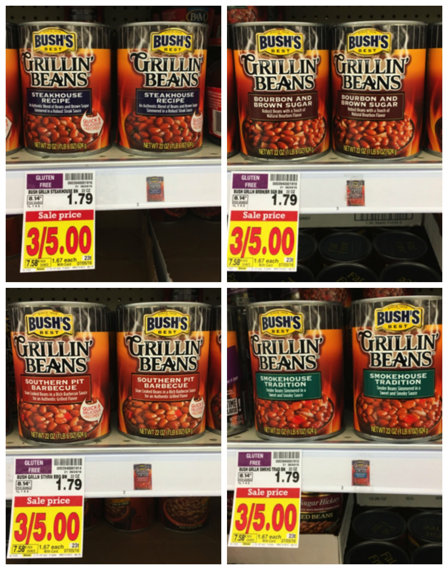 bush's grillin beans collage