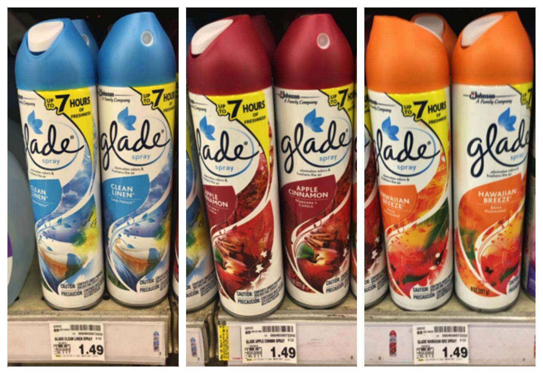 glade spray collage