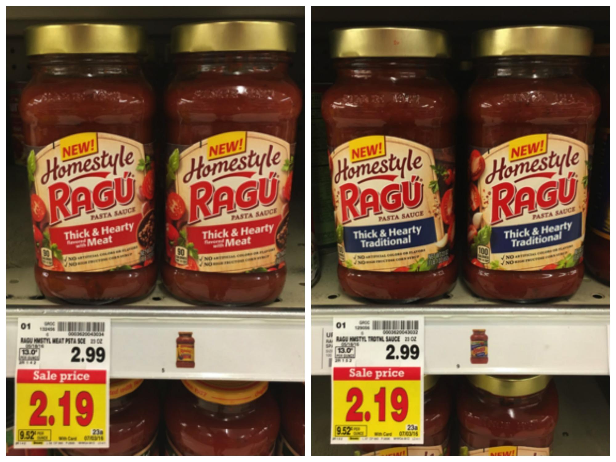 ragu homestyle pasta sauce collage