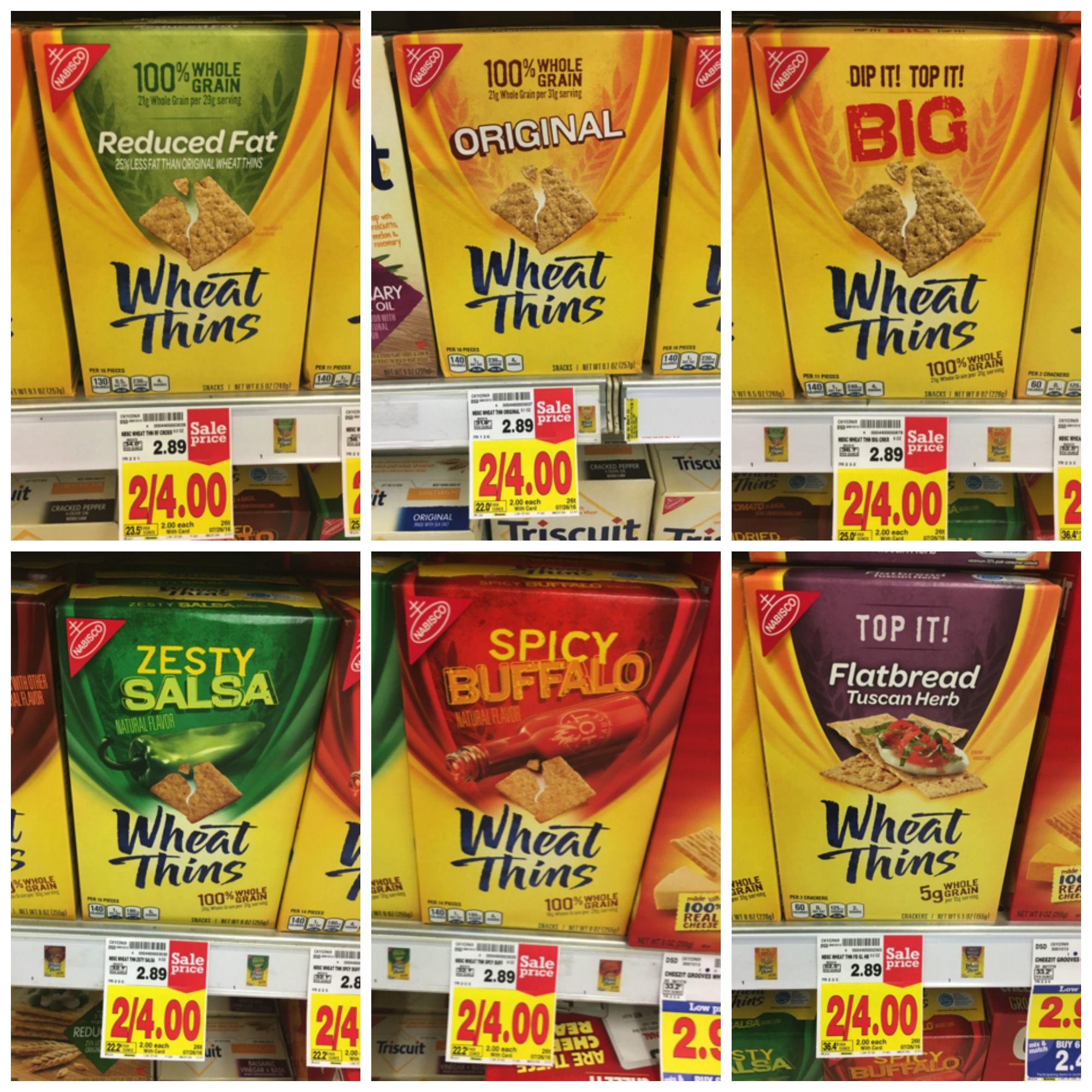 wheat thins collage