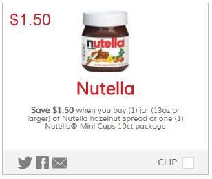 Nutella Hazelnut Spread ONLY $2 29 at Kroger!! | Kroger Krazy