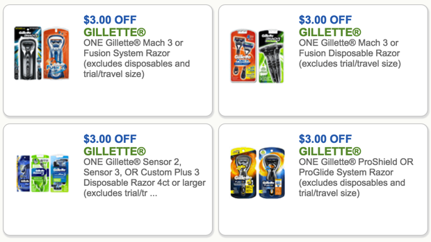 gillette coupons