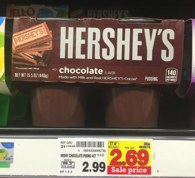 hershey's pudding