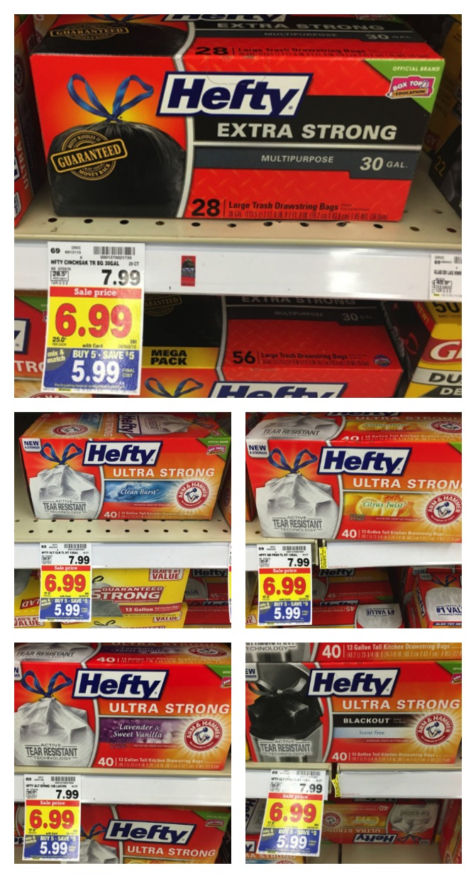 hefty bags Collage