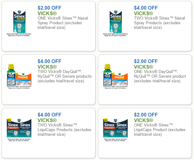image about Nyquil Coupons Printable called Vicks Sinex and Nyquil/Dayquil Meds Simply just $4.99 at Kroger