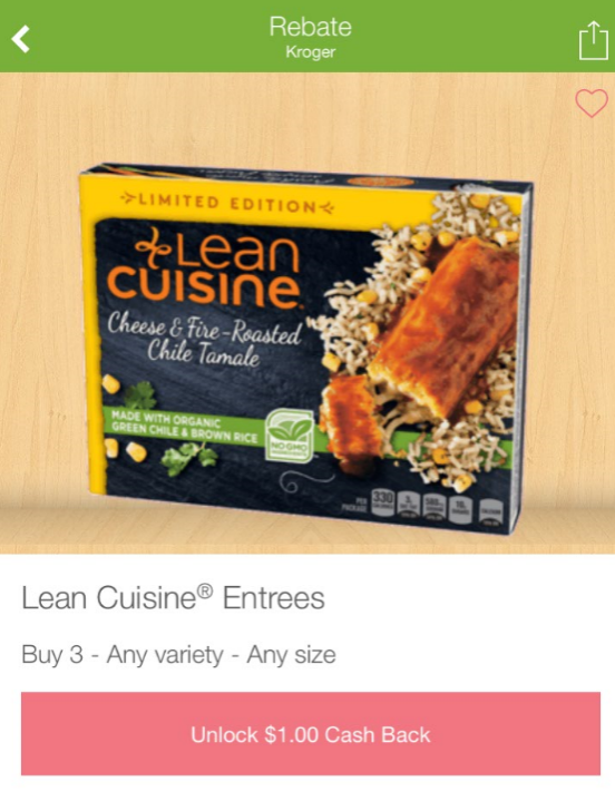 Lean cuisine entrees as low as at kroger kroger for Average price of lean cuisine