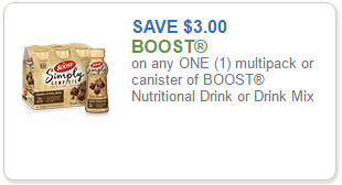 picture relating to Boost Printable Coupons named $3.00 Make improvements to Coupon \u003d Dietary Consume Multipacks for $4.99