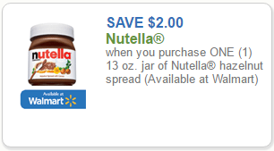 graphic relating to Nutella Printable Coupon referred to as Contemporary $2.00 Nutella Coupon \u003d Hazelnut Distribute for $1.79 at