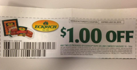 Eckrich Hot Dog Coupons