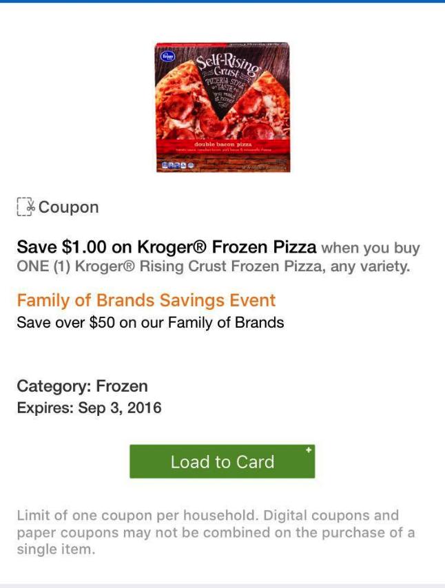 kroger pizza coupon