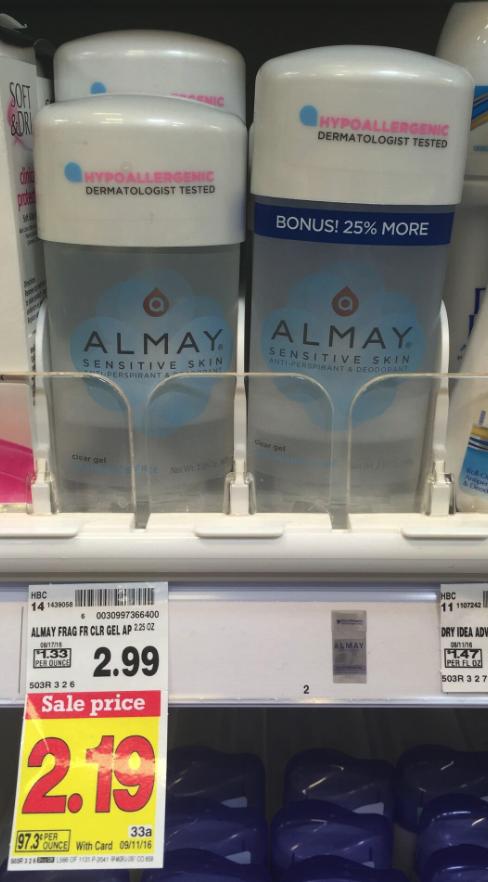 almay deodorant