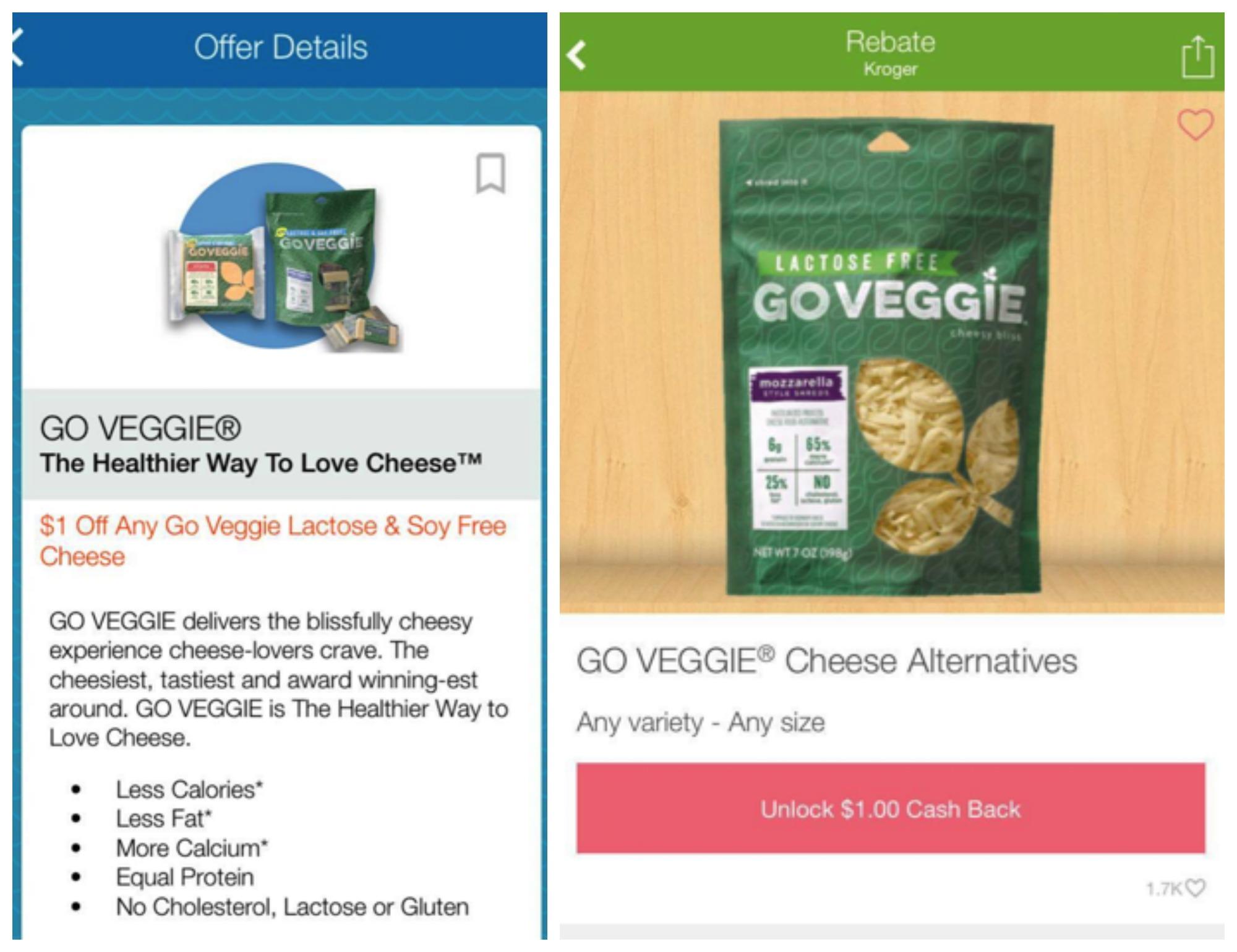 go veggie rebate Collage