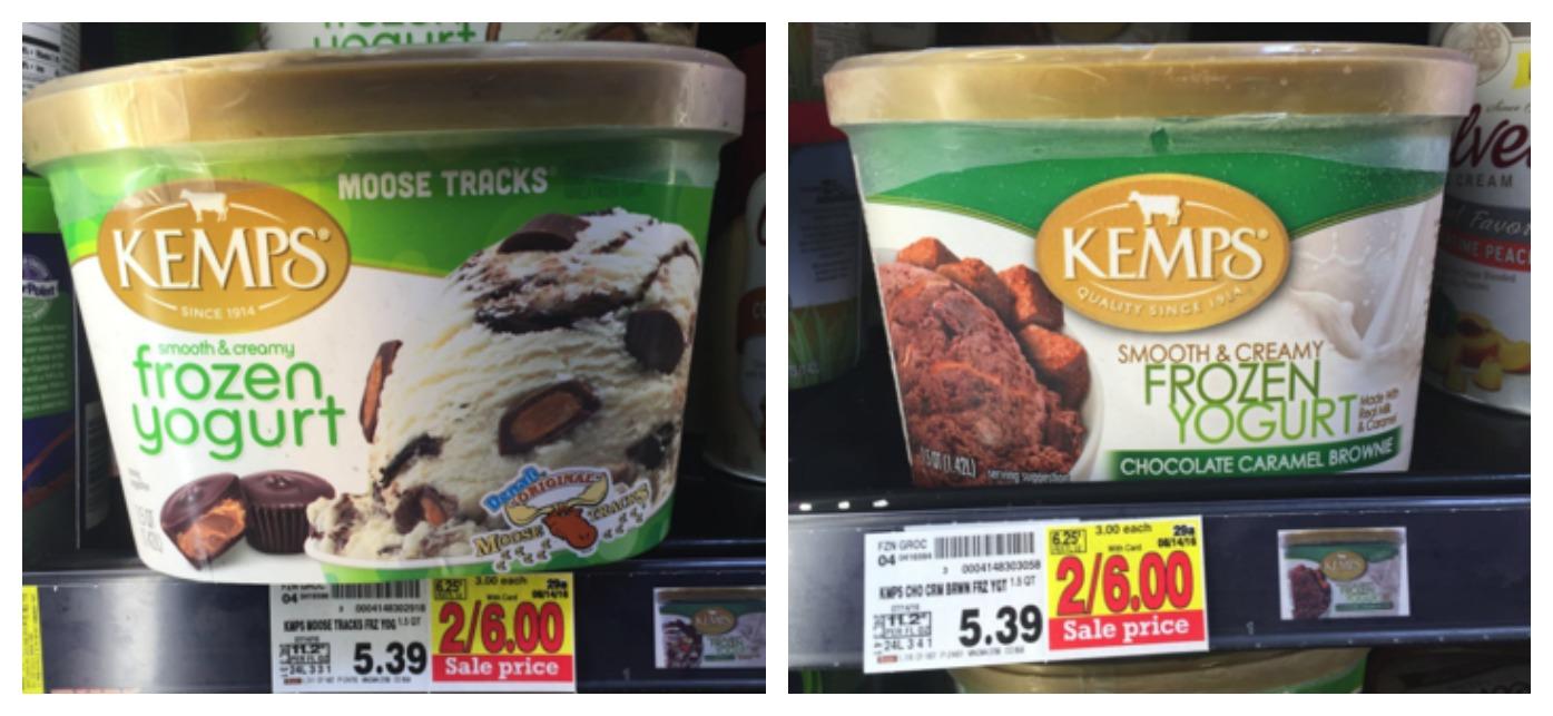 kemps frozen yogurt Collage