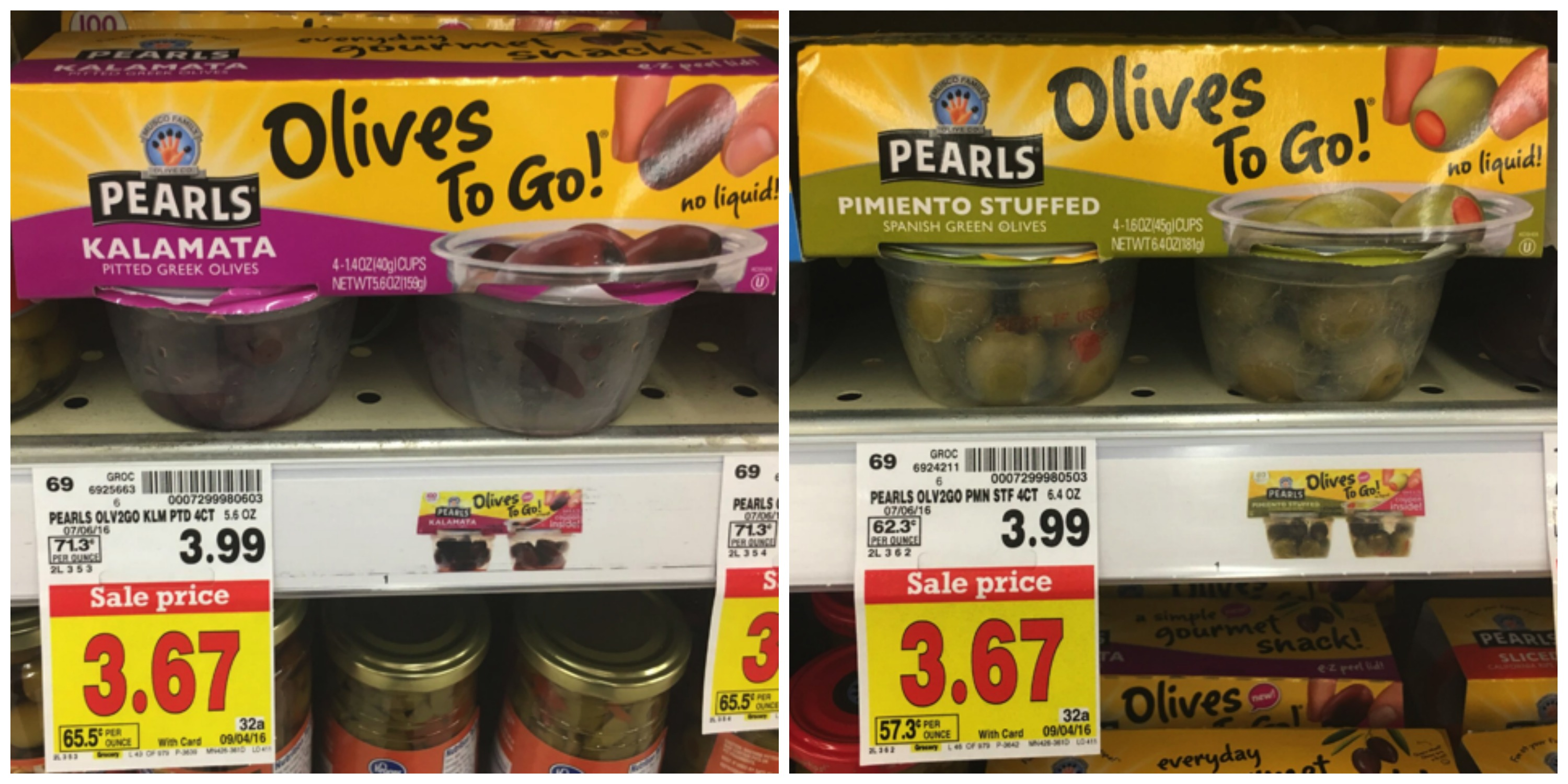 peals olives to go stuffed Collage