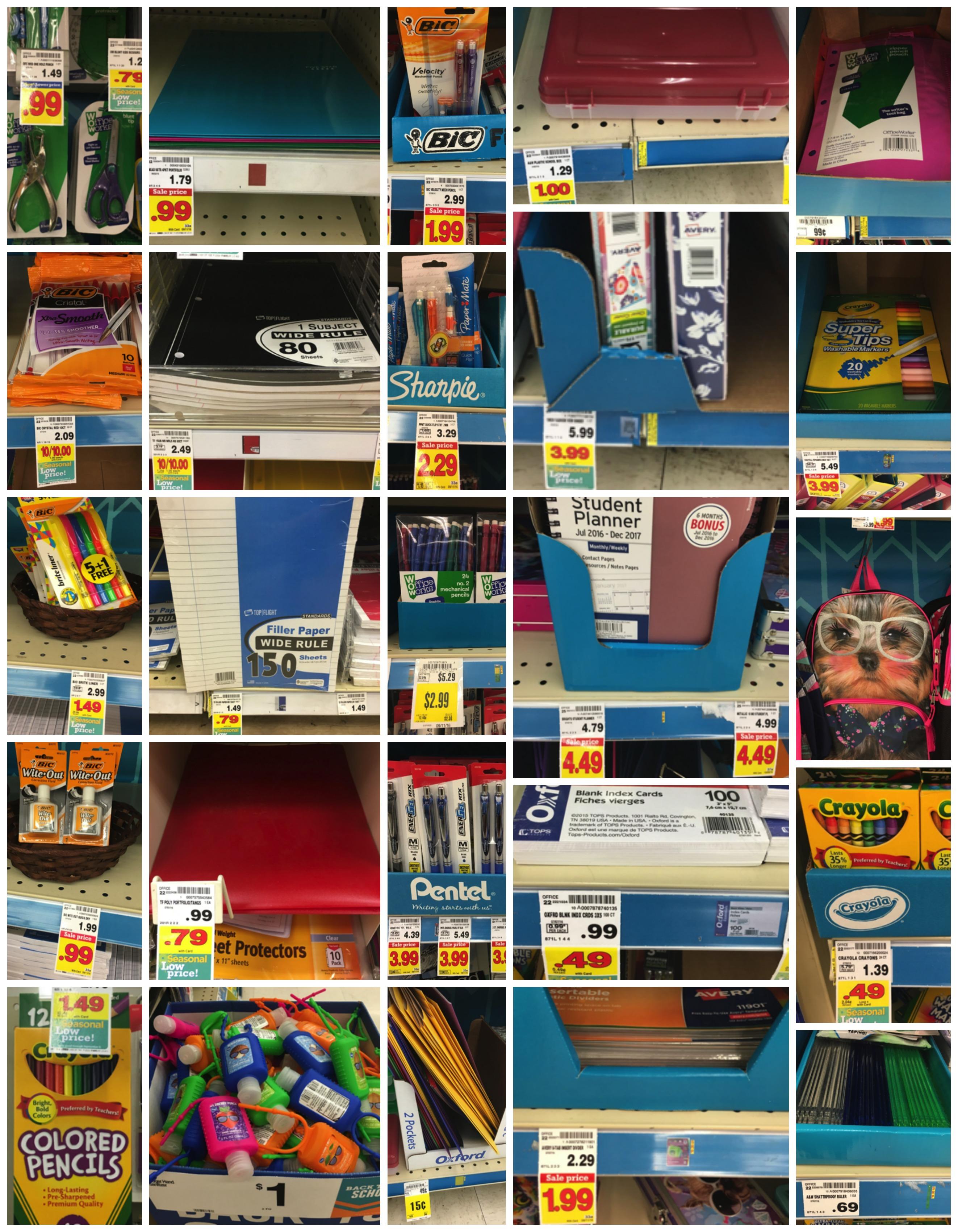 school supplies Collage